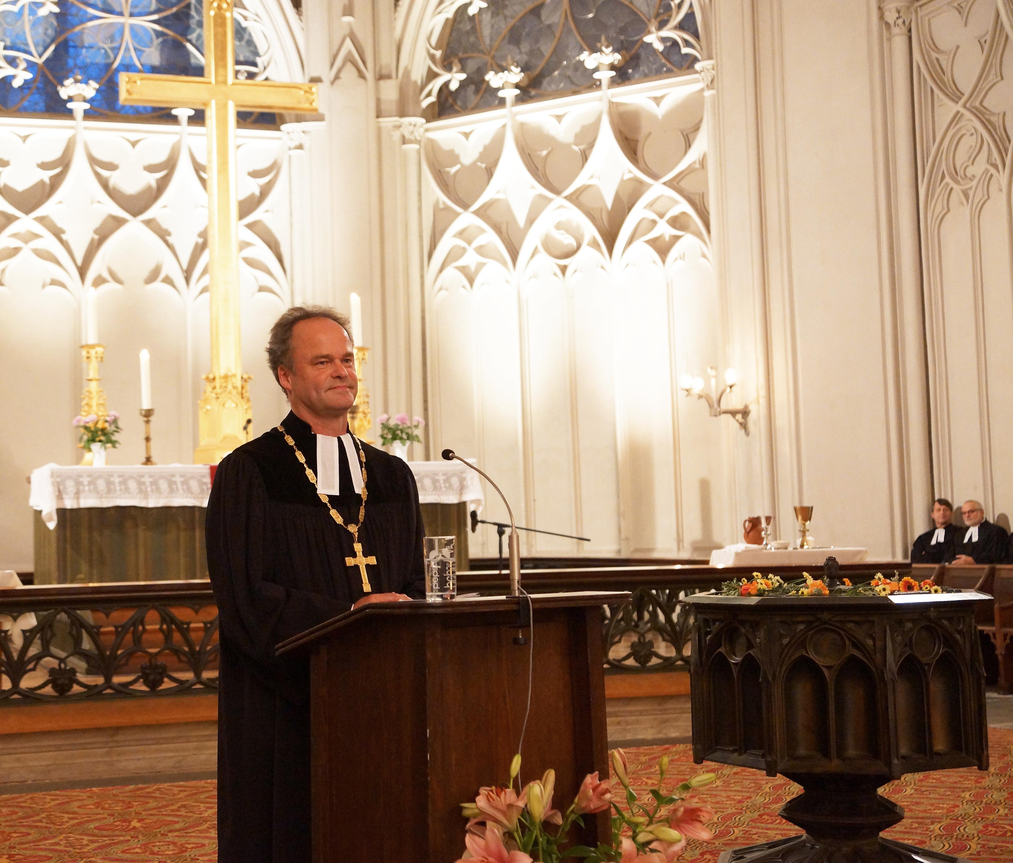 Tilmann Jeremias első igehirdetése püspökként